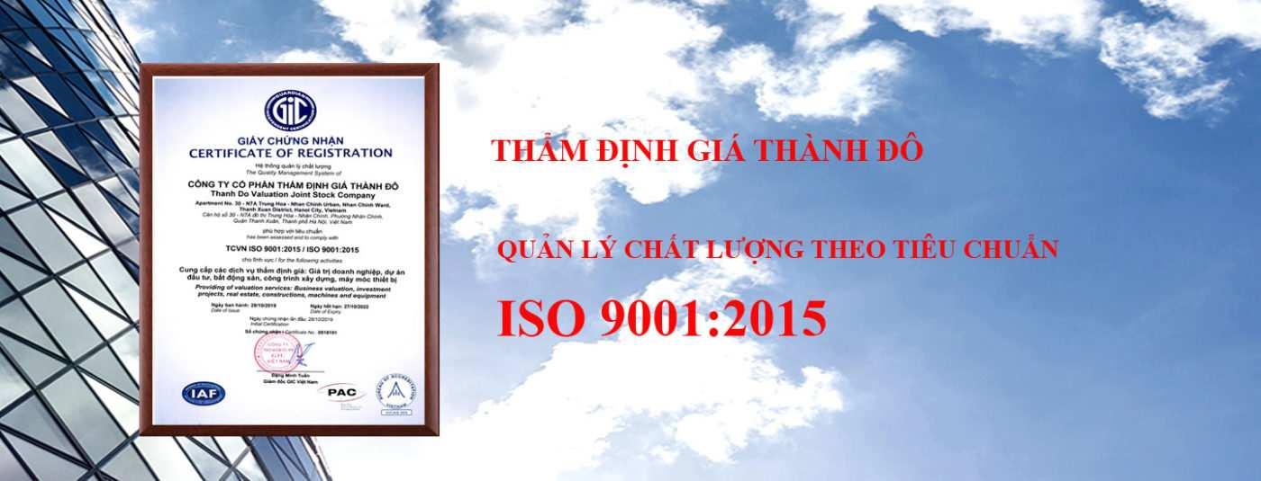 Chứng nhận iso 9001:2015 thẩm định giá thành đô
