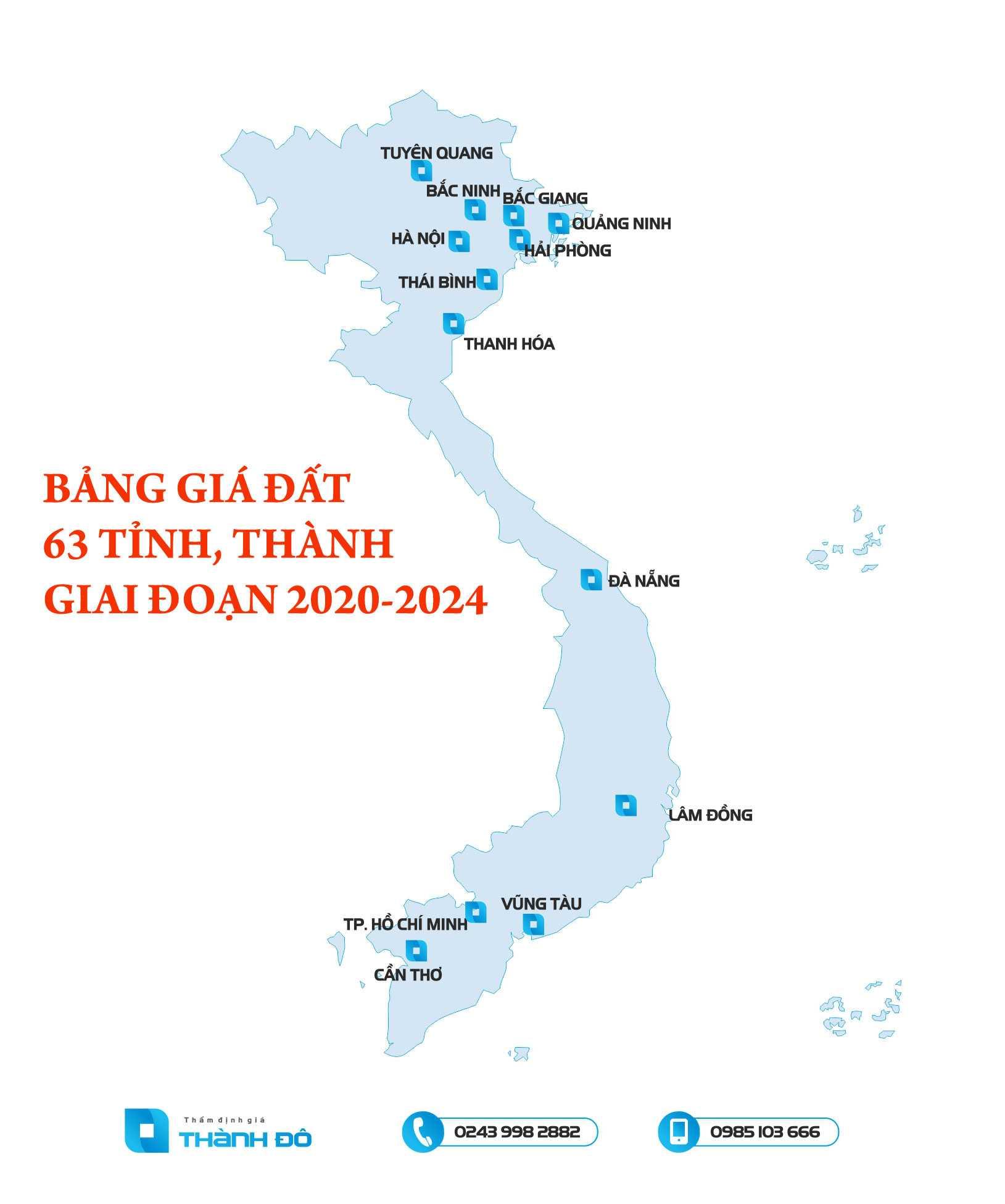 Bảng giá đất 63 tỉnh, thành giai đoạn 2020 đến 2024