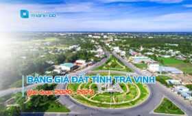 Bảng giá đất tỉnh Trà Vinh 2020 - 2024