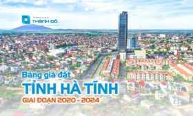 Bảng giá đất Hà Tĩnh 2020 - 2024
