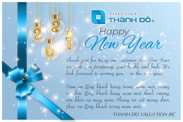 Thiệp chúc mừng năm mới 2021