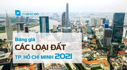 Bảng giá các loại đất hồ chí minh 2021