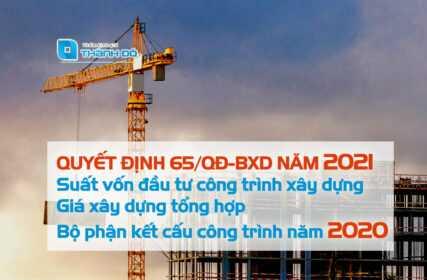 suất vốn đầu tư công trình xây dựng 2021